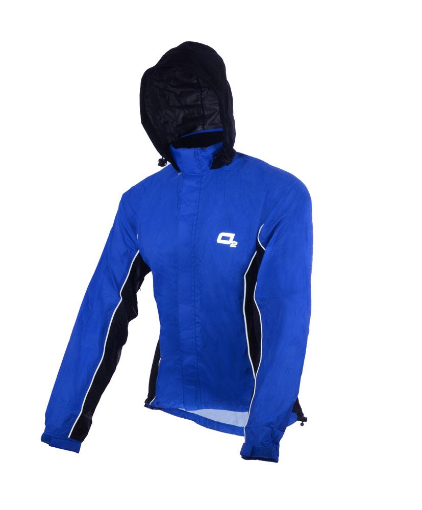 5615e39454f Nepromokavá bunda Profi O2 Primary s kapucí modrá